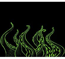 Green Sketched Tentacles Photographic Print