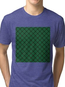 Lucky clovers for St. Patrick's Day parade. Ireland. Hearts. Green. Tri-blend T-Shirt