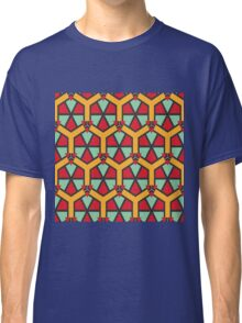 Honeycombs triangles and other shapes pattern Classic T-Shirt