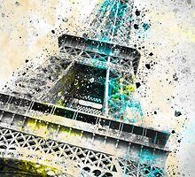 City-Art PARIS Eiffel Tower IV by Melanie Viola