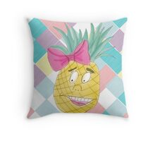 Pastel Purple Pineapple Throw Pillow