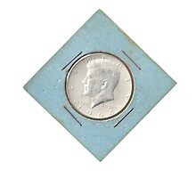 Silver Kennedy Half Dollar 1964 collector's item  by PhotoStock-Isra