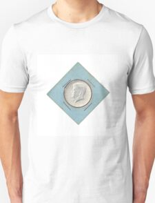 Silver Kennedy Half Dollar 1964 collector's item  Unisex T-Shirt