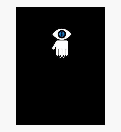Eyelien in black Photographic Print