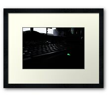 Razor Keyboard Framed Print