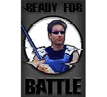 Fox Mulder- Ready for Battle Photographic Print