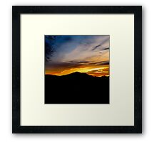 The end of the day, vivid colors on display  Framed Print