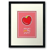 Cheesy Hearts - Gouda Framed Print