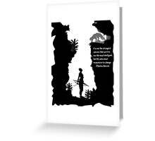 Strong Creatures Greeting Card