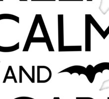 Keep calm and scare on bats Sticker
