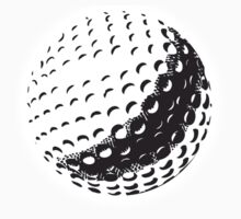 GOLF BALL, SPORT, Golfing, Golf, Black on White Kids Clothes