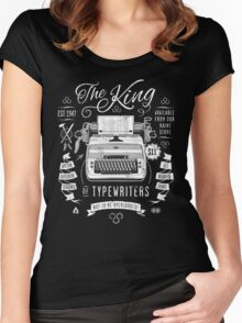 The King of Typewriters Women's Fitted Scoop T-Shirt