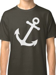 Simple White vector anchor Classic T-Shirt