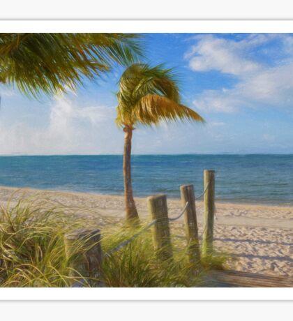 Gentle Breeze at the Beach Sticker