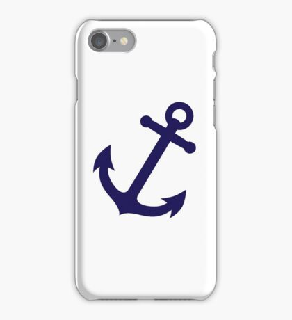 Navy Blue Anchor iPhone Case/Skin