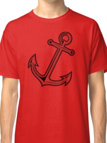 Black vintage anchor Classic T-Shirt