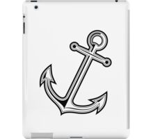 Black vintage anchor iPad Case/Skin