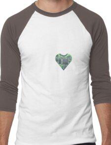 Hardwired Heart Men's Baseball ¾ T-Shirt