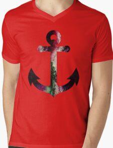 Vintage Galaxy Anchor Mens V-Neck T-Shirt