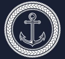 Anchor inside of ropes One Piece - Long Sleeve