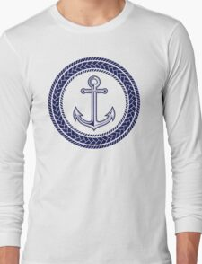 Anchor inside of ropes Long Sleeve T-Shirt