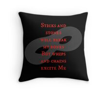 After Mr Grey...  Throw Pillow