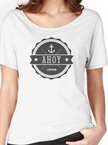 AHOY Captain Badge with anchor Women's Relaxed Fit T-Shirt