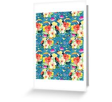 tropical pattern with birds Greeting Card