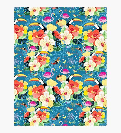 tropical pattern with birds Photographic Print