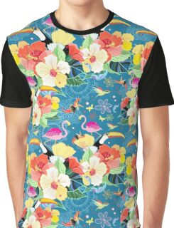 tropical pattern with birds Graphic T-Shirt