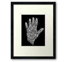 HennaHandWhite Framed Print