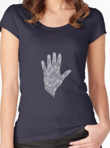 HennaHandWhite Women's Fitted Scoop T-Shirt