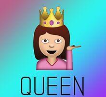 QUEEN sassy woman emoji gradient by Rad Merch