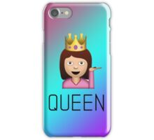 QUEEN sassy woman emoji gradient iPhone Case/Skin