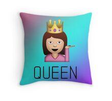 QUEEN sassy woman emoji gradient Throw Pillow