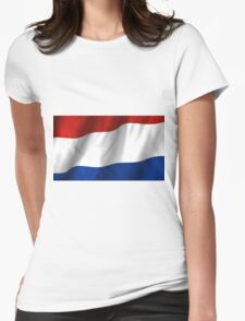 Netherlands Flag Womens Fitted T-Shirt