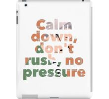 #NoPressure iPad Case/Skin