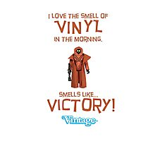 Vintage STAR WARS Vinyl Caped Jawa Kenner Style Action Figures Photographic Print