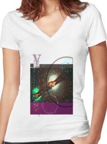 Heavens 1 Women's Fitted V-Neck T-Shirt