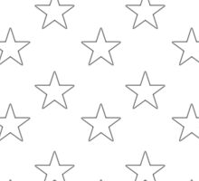 STARS, Stars of the American Flag, Star spangled, White stars, American Flag, Stars & Stripes, America, USA Sticker