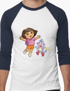 Dora The Explorer Men's Baseball ¾ T-Shirt