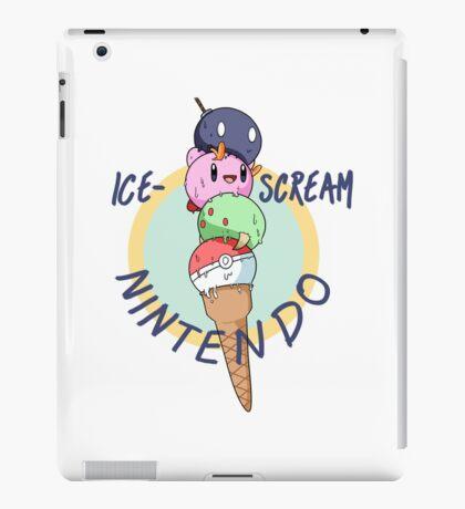 Nintendo icecream, with text!! iPad Case/Skin