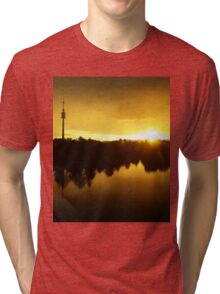 The Vienna Sunset on the Danube Tri-blend T-Shirt