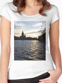 The Danube in Vienna Women's Fitted Scoop T-Shirt