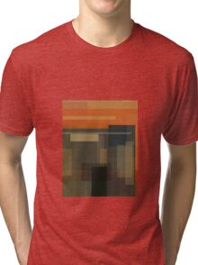 Munch: The Scream (computer-generated abstract version) Tri-blend T-Shirt