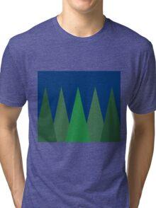Trees at Night  Tri-blend T-Shirt