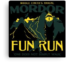 Mordor Fun Run Canvas Print