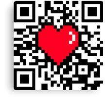 qr code pixel heart Canvas Print