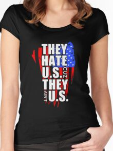 hate US Women's Fitted Scoop T-Shirt