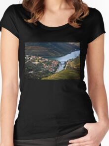Pinhao town & Douro river - Portugal Women's Fitted Scoop T-Shirt
